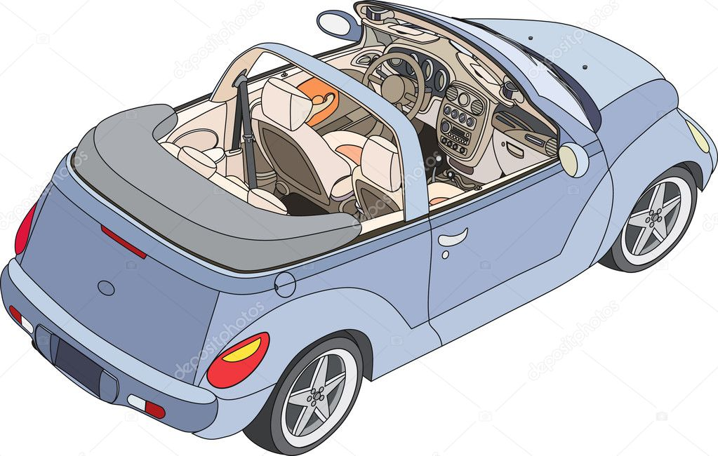 Small convertible car — Stock Vector #2262822