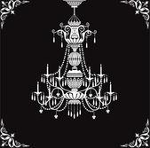 Crystal chandelier — Stock Vector