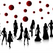 Royalty-Free Stock Immagine Vettoriale: Fashion silhouettes