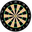 Dartboard vector illustration — Stockvektor
