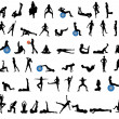 Royalty-Free Stock Vector Image: Fitness silhouettes