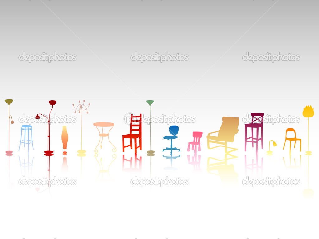 Vector illustration of abstract furniture — Stock Vector #2327645
