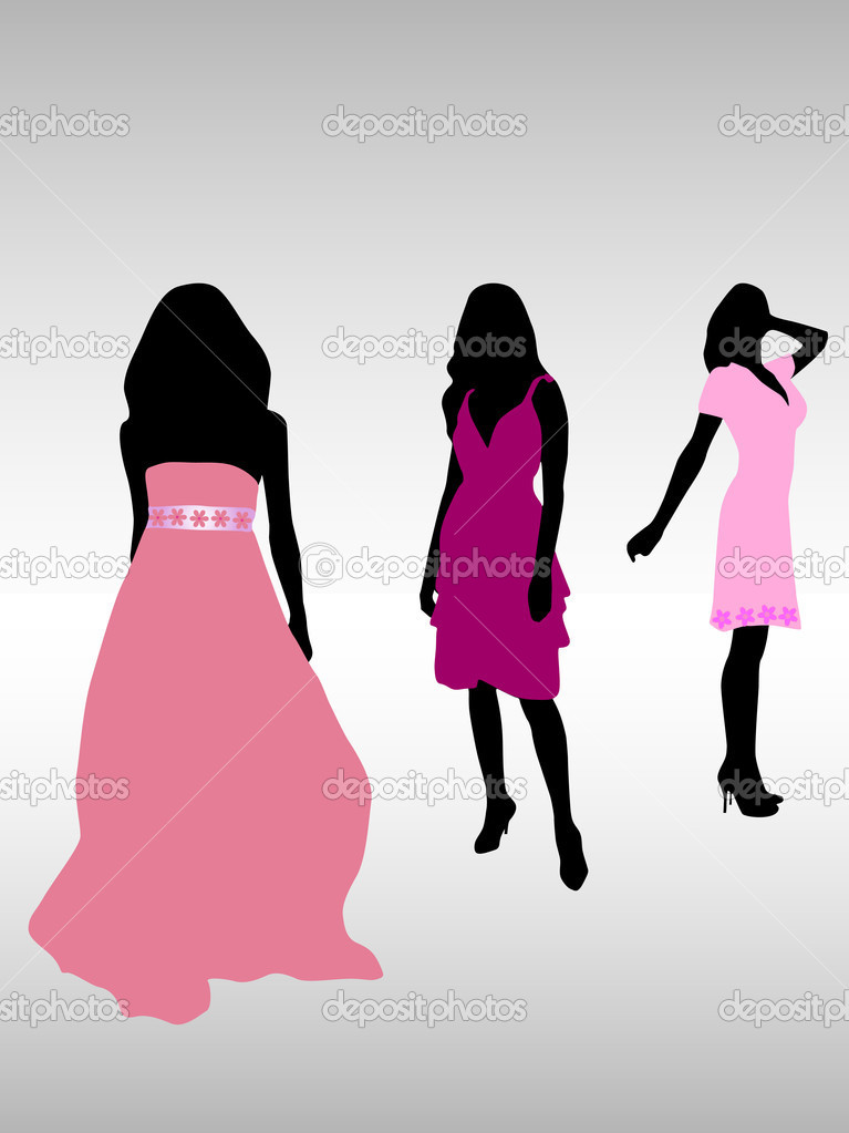 Vector illustration of fashion girls — Stock Vector #2519511