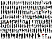 Silhouettes — Stock Vector