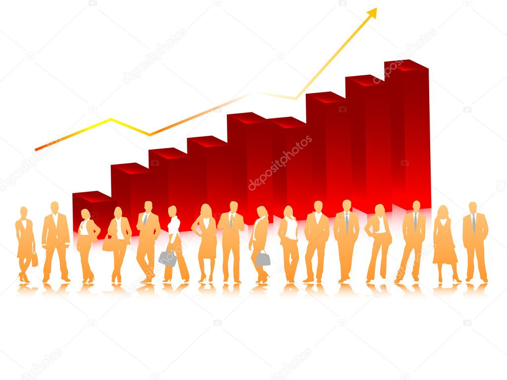 Vector illustration of business graph  Stock Vector #2611428