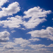 Puffy clouds — Stock Photo