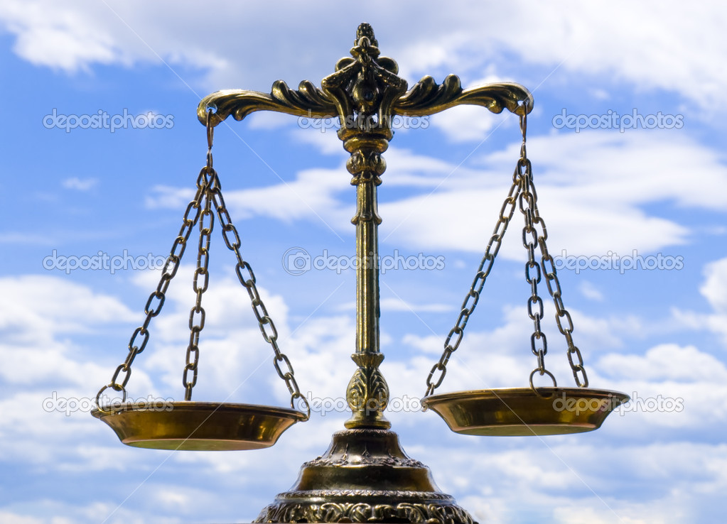 A photo of the scales of justice with a balance theme overlay  Stock Photo #2344294