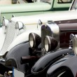 A line of classic cars - Stock Photo
