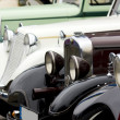 Stock Photo: Line of classic cars