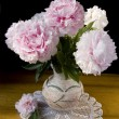 Pink peony in vase — Stock Photo