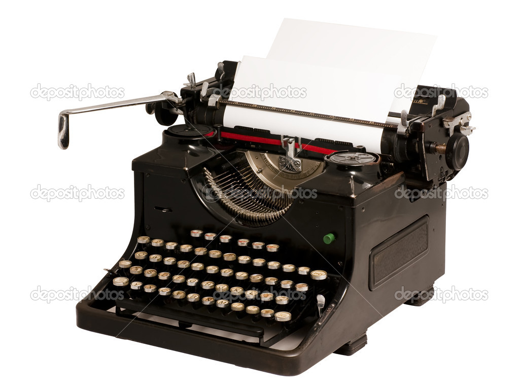 Old vintage typewriter isolated on white background — Stock Photo #2377783