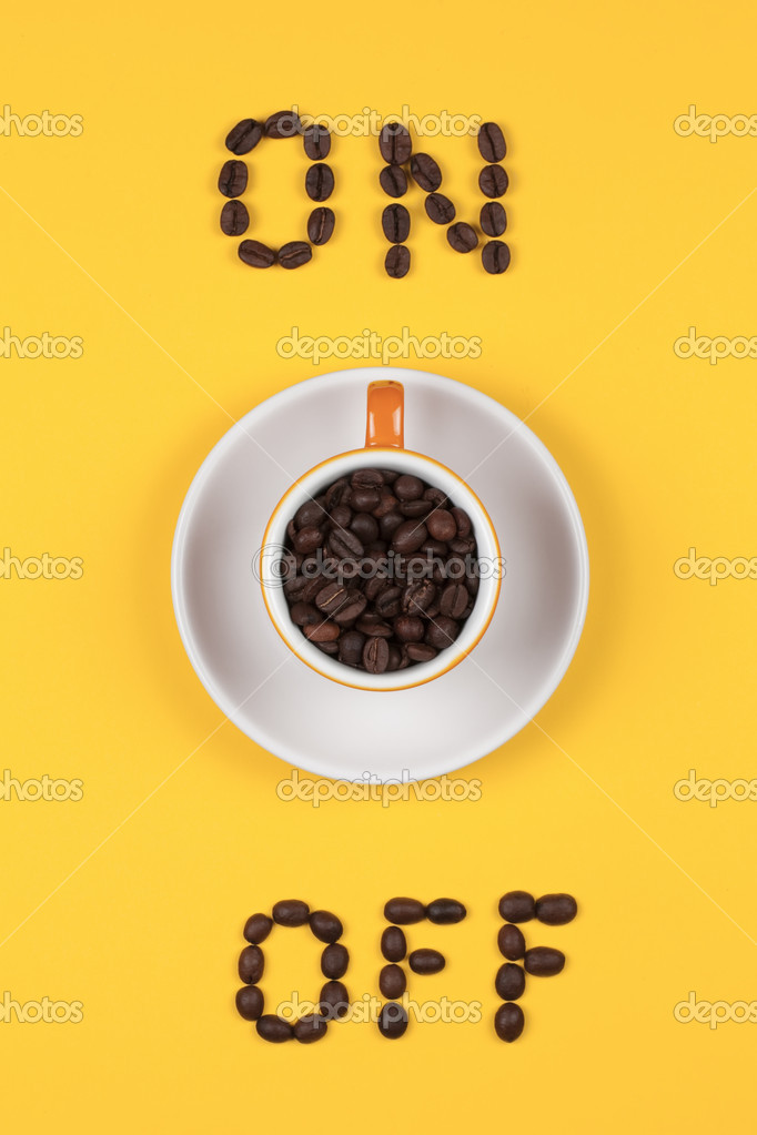 Coffee cup  with coffee grains — Stock Photo #2378467