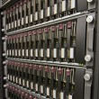 Stockfoto: Row of hard drives