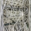 The network cable in the service room — Stock Photo