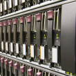 Row of hard drives — Foto Stock