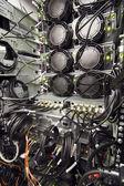 Datacenter rack rear — Stock Photo