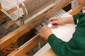 Rustic wooden loom — Stock Photo
