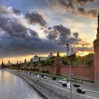 Moscow. View from bridge to the Kremlin — Stok fotoğraf