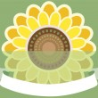 Greeting card with sunflower — Stock Vector