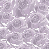 Seamless violet rose pattern — Stock Vector