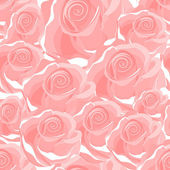 Seamless red rose pattern — Stock Vector