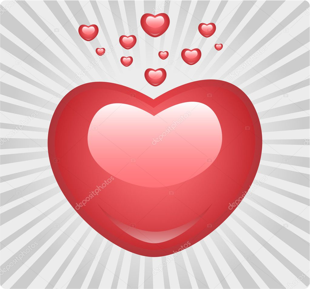 Shiny love heart — Stock Vector #2614409