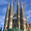 Royalty-Free Stock Photo: World famous Sagrada Familia in winter