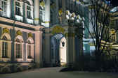 Winter Palace facade in winter night — Stock Photo