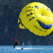 Stock Photo: Parasailer