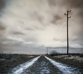 Field road after storm — Stock Photo