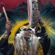 Native shaman — Stock Photo