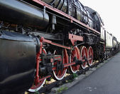 Train on railway station — Stock Photo