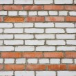 Old dirty white and red brick wall — Stock Photo #2334656