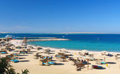 Red sea baech resort — Stock Photo