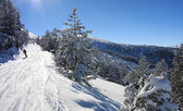 Snowboarding in Bulgaria. Borovets — Stock Photo