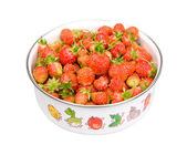 Strawberries in the bowl — Stock Photo