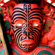 maori warrior carving, new zealand — Stock Photo