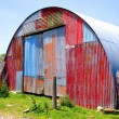 Round Metal Shed with Mismatched Paint — Stock Photo #2270276