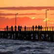 On Jetty watching Sunset — Stock Photo