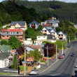 Stock Photo: Steep street in Dunedin, New Zealand