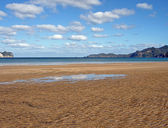 Whangapoua Beach at Low Tide, NZ — Stock Photo