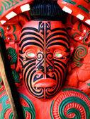 Maoryski wojownik rzeźba, nowa zelandia — Zdjęcie stockowe
