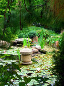 Japanese Water Garden — Stock Photo