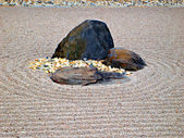 Karesansui - Japanese dry rock garden — Stock Photo