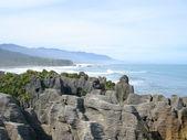 Punakaiki Pancake Rocks, New Zealand — Stock Photo