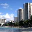 Hotels on Waikiki Beach, Hawaii — Stock Photo #2359064