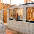 Residential Building Construction Site - Stock Photo