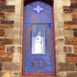 Virgin Mary in Church Window — Stock Photo