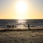 Walking along Beach at Sunset — Stock Photo #2367138
