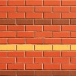 Red Brick Wall with Feature Rows — Stock Photo